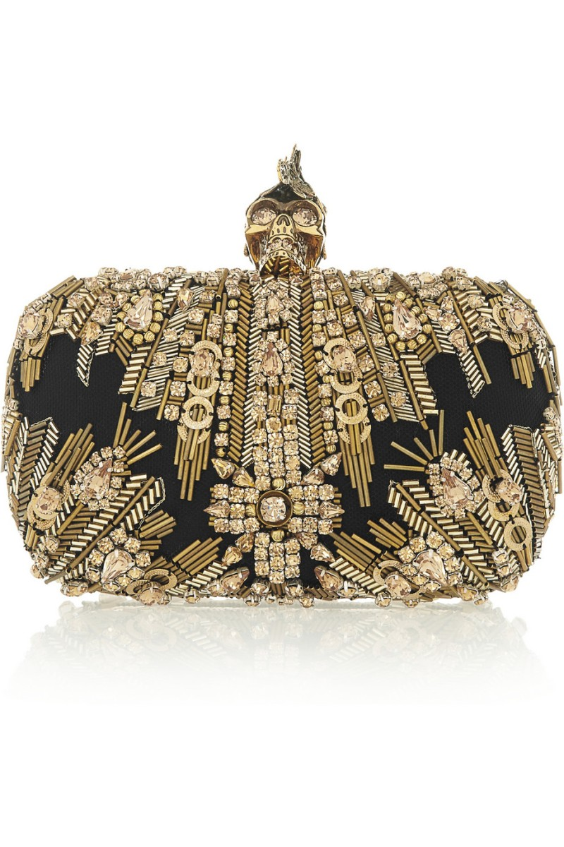 ALEXANDER MCQUEEN The Skull Swarovski crystal-embellished box clutch €1,995
