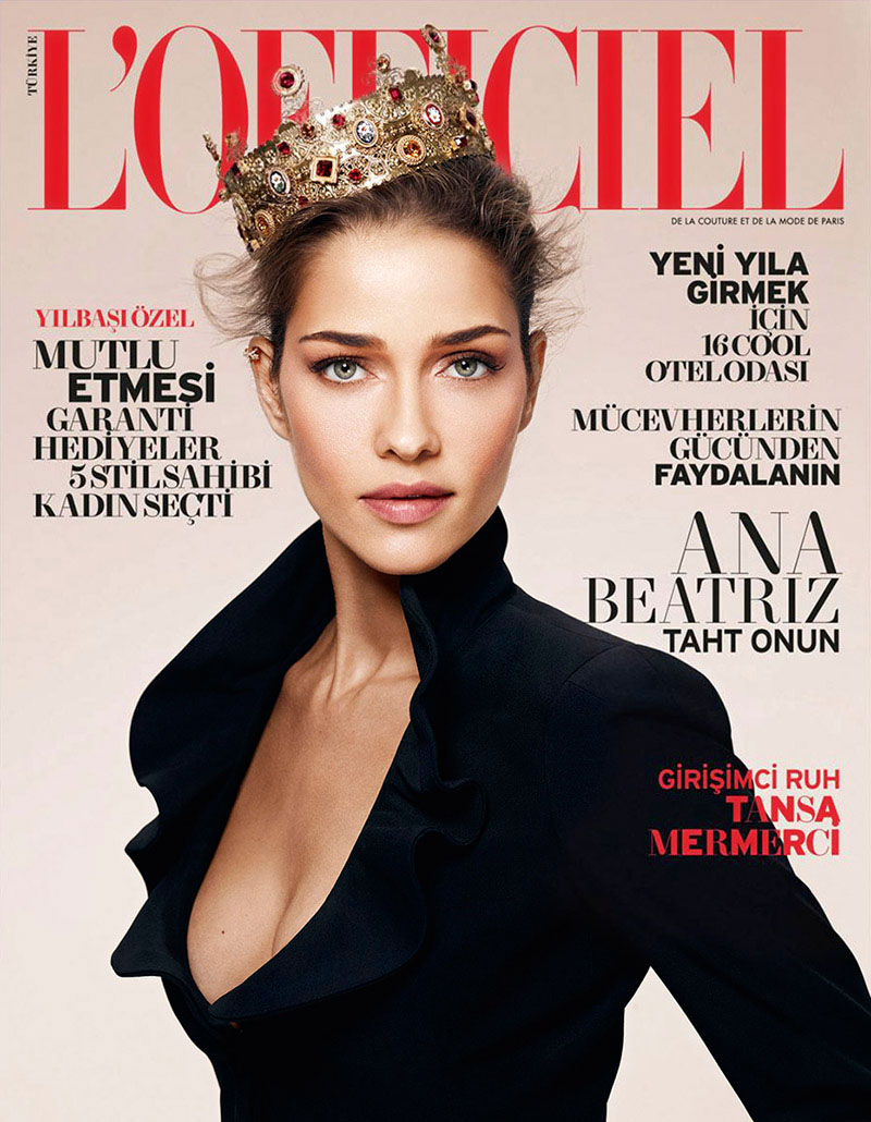 Ana Beatriz Barros by Emre Dogru for L'Officiel Turkey December 2013