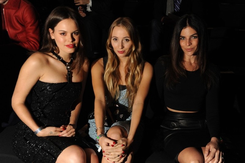 Atlanta de Cadenet, Harley Viera Newton and Julia Restoin Roitfeld. Photo by Steve Eichner