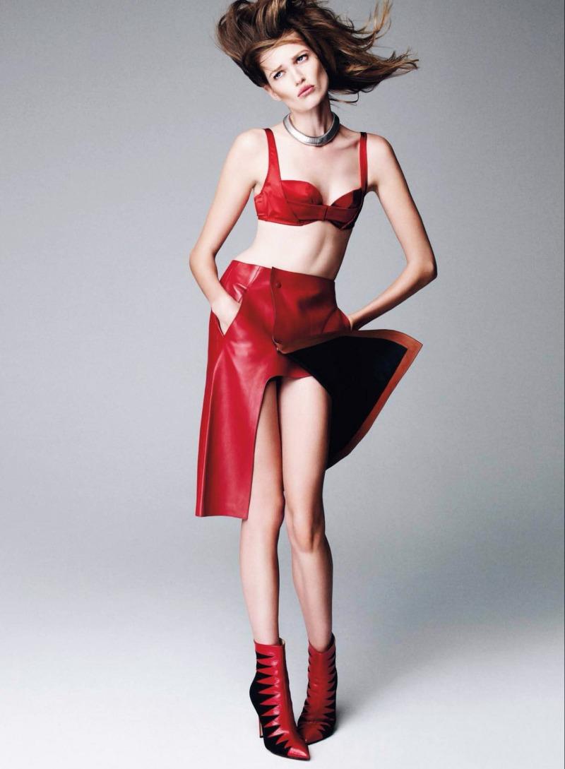 Bette Franke by Nagi Sakai for Harper's Bazaar Spain December 2013