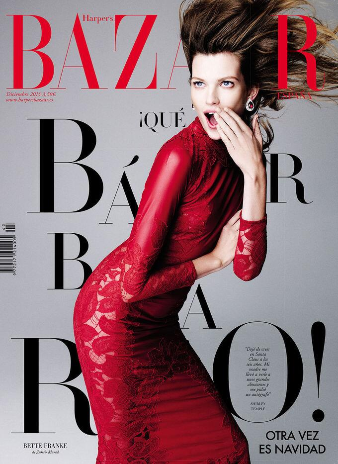Bette Franke by Nagi Sakai for Harper's Bazaar Spain December 2013
