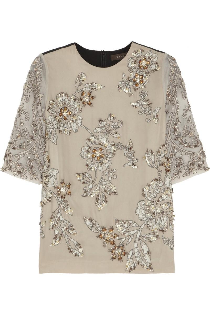 BIYAN Jane embellished silk-blend top €815