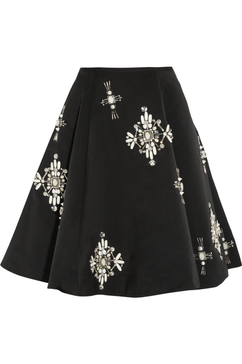 BIYAN Nabila embellished satin-twill skirt €940
