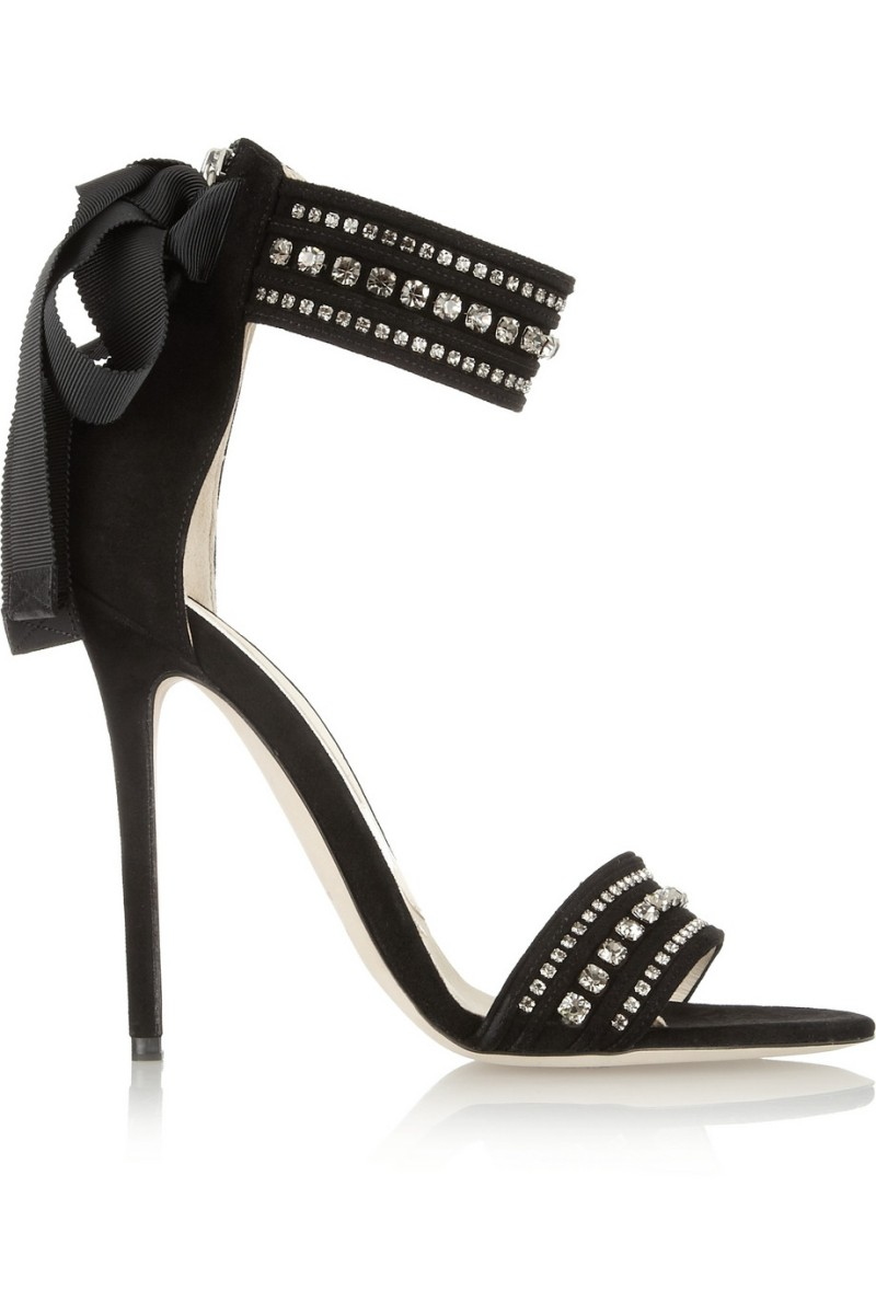 BRIAN ATWOOD Crystal-embellished suede sandals €1,095