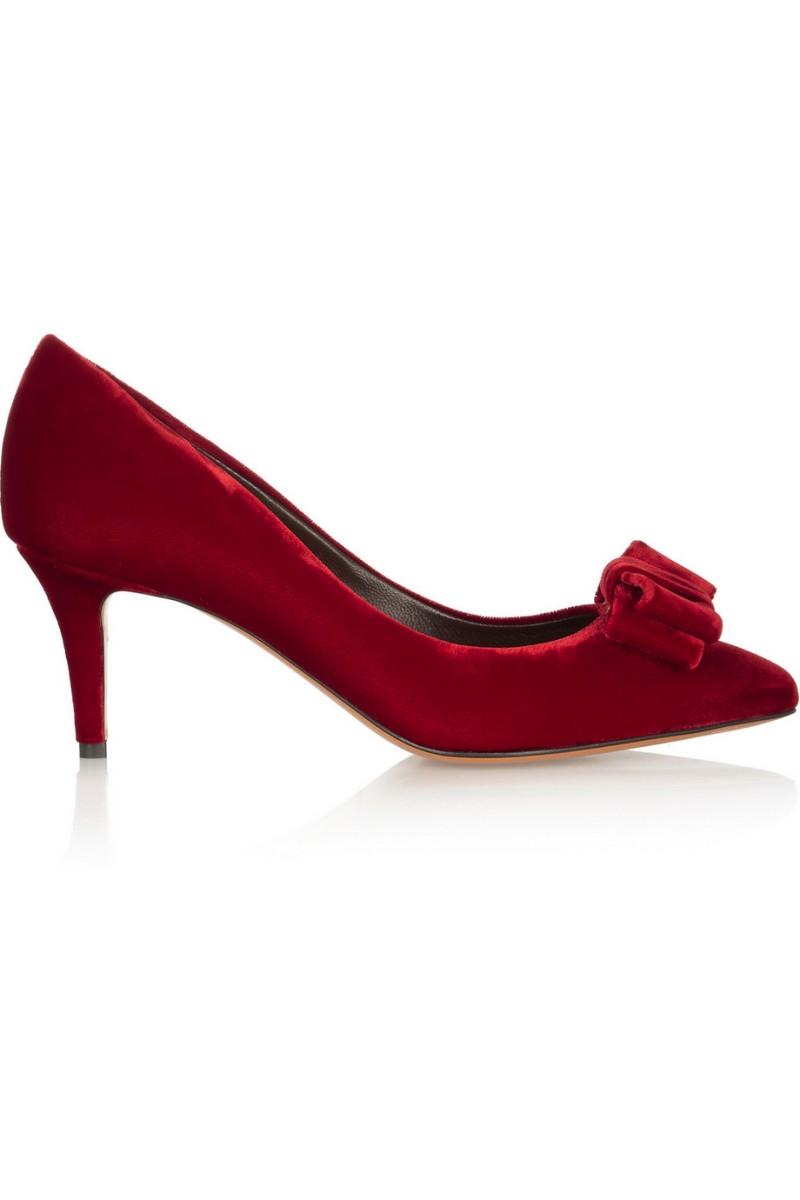 BRUNO MAGLI Halki bow-embellished velvet pumps €364