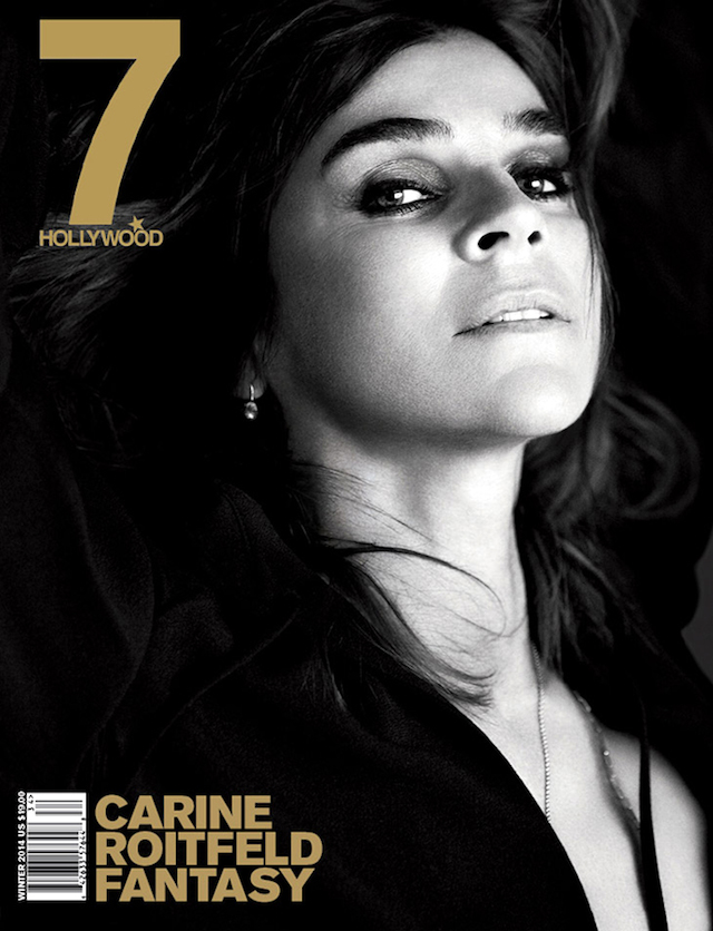 Carine Roitfeld for 7Hollywood Magazine Winter 2014