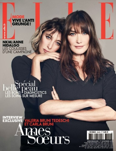 Carla Bruni & Valeria Bruni Tedeschi for ELLE France November 1, 2013