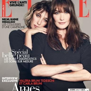 Carla Bruni & Valeria Bruni Tedeschi for ELLE France November 1, 2013