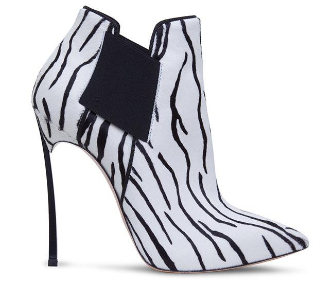 Casadei zebra print ankle boots