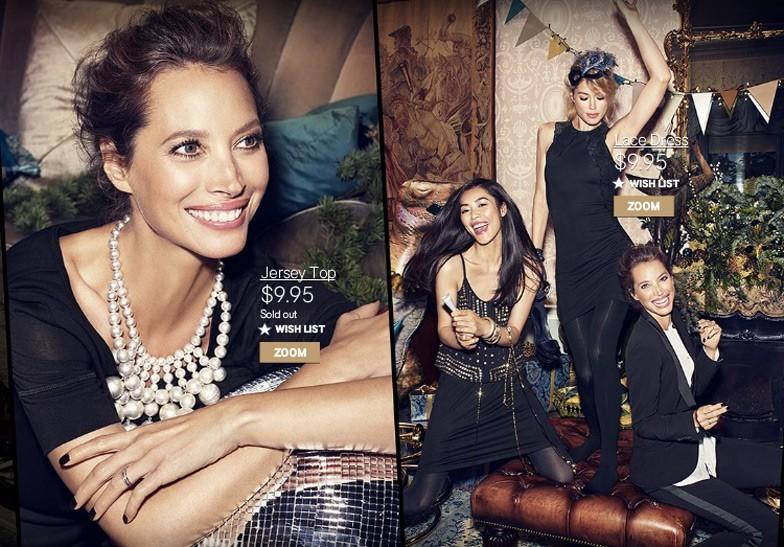 Christy Turlington for H&M Christmas 2013