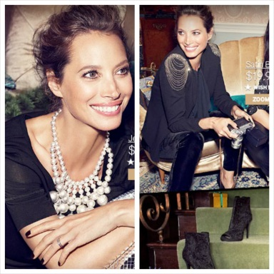 Christy Turlington for H&M Christmas 2013
