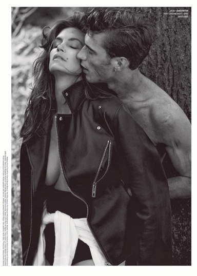 Cindy Crawford and Clement Chabernaud by Sebastian Faena for V #86 Fall/Winter 2013.14