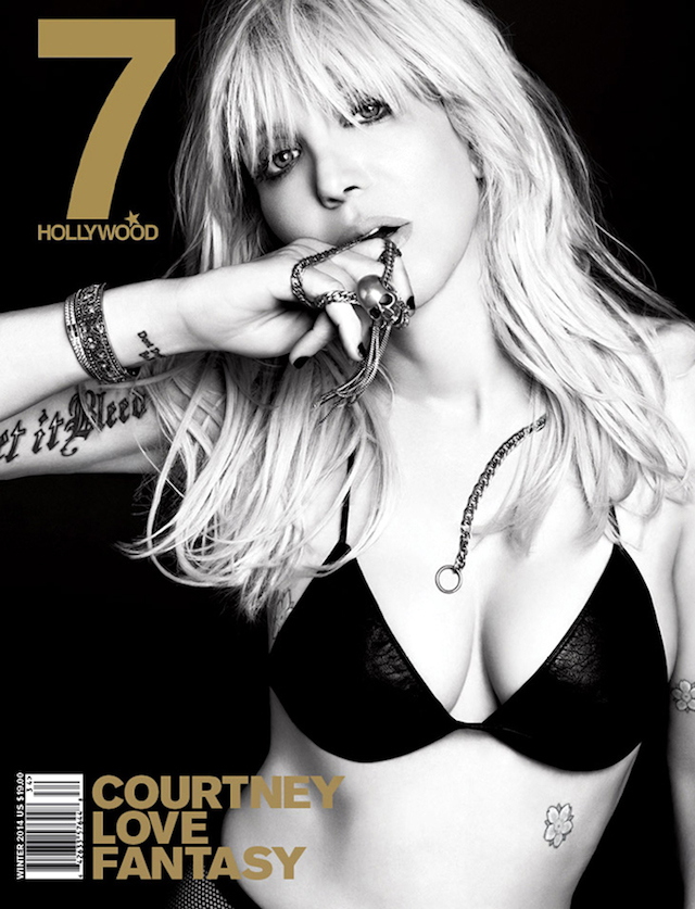 Courtney Love for 7Hollywood Magazine Winter 2014