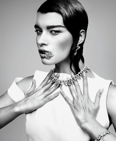 Crystal Renn by Jason Kibble for The T Style Magazine Fall/Winter 2013/14