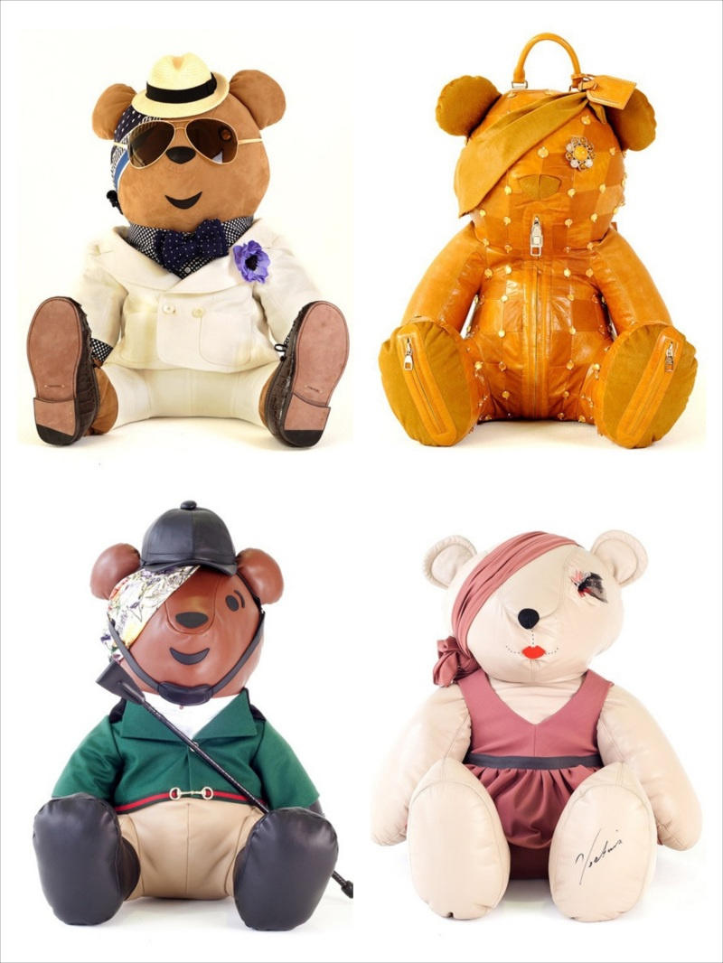 Designer's Pudsey bears for The Children In Need