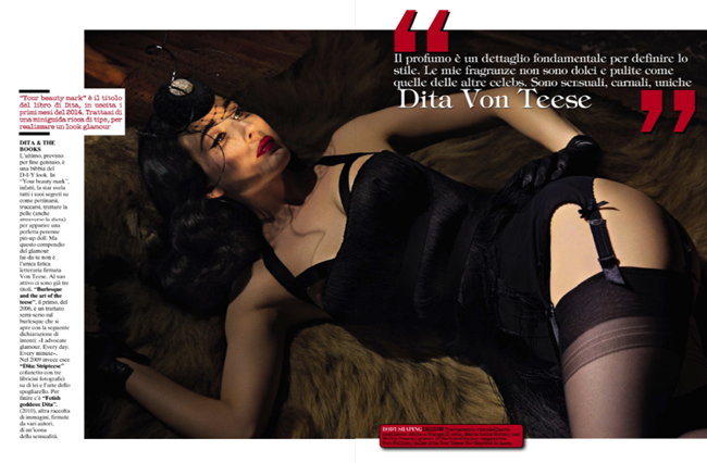 Dita von Teese by Greg Lotus for Vogue Italia November 2013