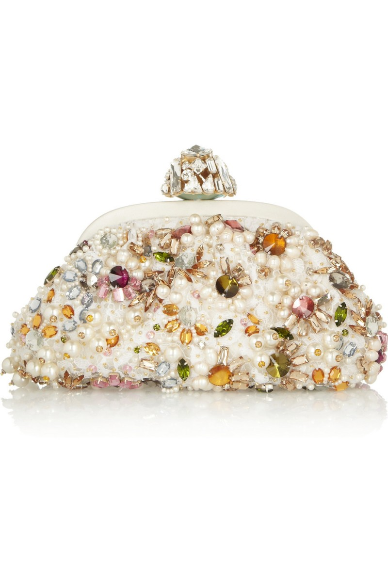 DOLCE & GABBANA Dea small embellished lace clutch €2,450