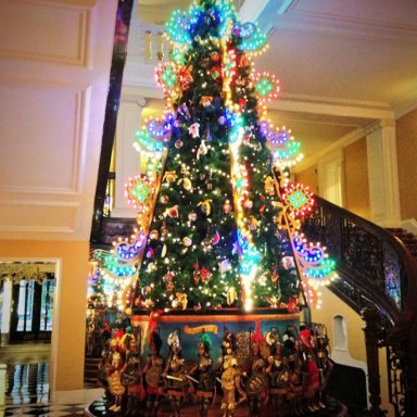 Dolce & Gabbana's Christmas tree for Claridge's Hotel in London