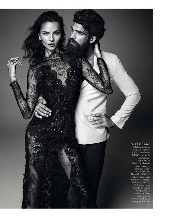 Egle Tvirbutaite and Dimitris Alexandrou by Alvaro Beamud Cortes for Vogue Spain Brides