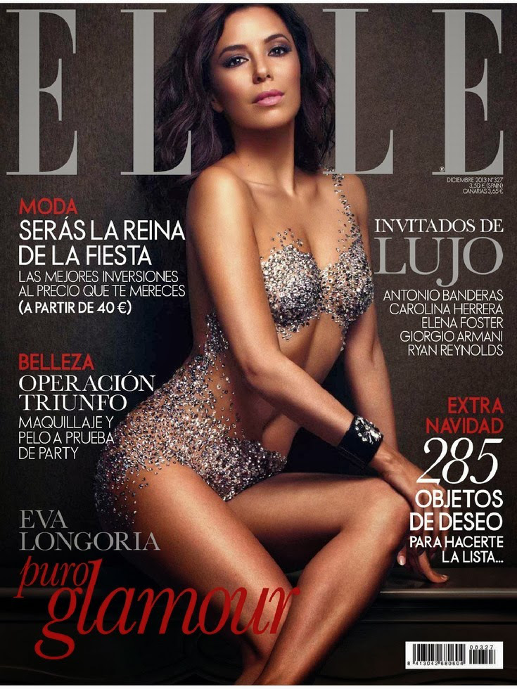Eva Longoria by Xavi Gordo for ELLE Spain December 2013