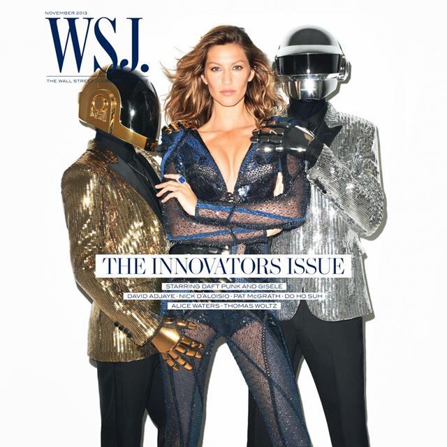 Gisele Bundchen and Daft Punk by Terry Richardson for WSJ Magazine November 2013