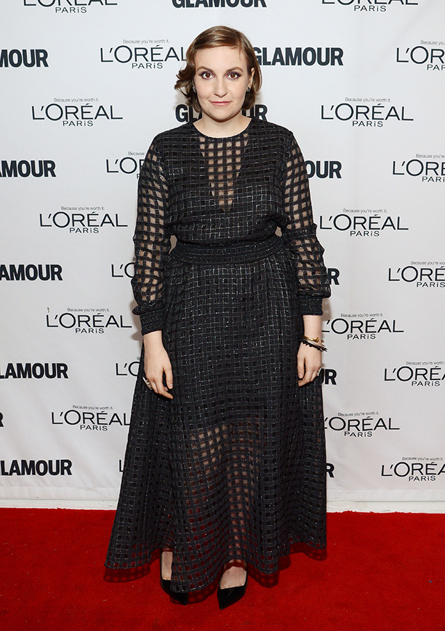 Lena Dunham attends Glamour's 23rd annual Women of the Year awards on November 11, 2013 in New York City