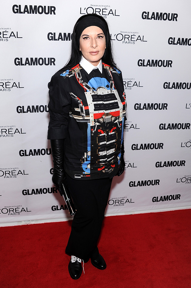 Marina Abramovic attends Glamour's 23rd annual Women of the Year awards on November 11, 2013 in New York City