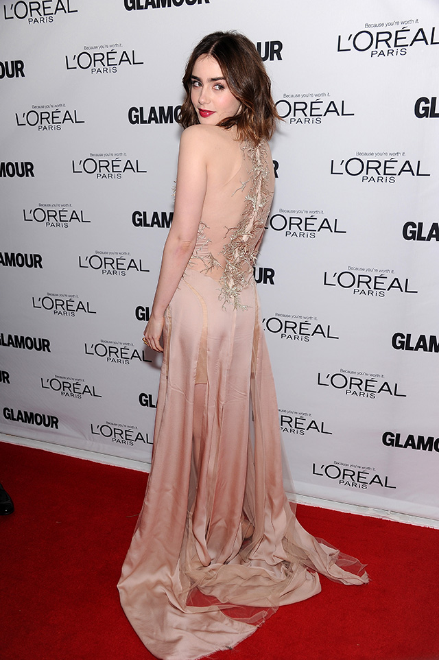 : Lily Collins attends Glamour's 23rd annual Women of the Year awards on November 11, 2013 in New York City.