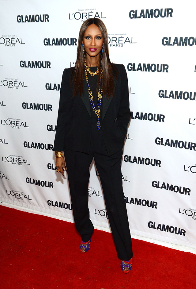 Iman attends Glamour's 23rd annual Women of the Year awards on November 11, 2013 in New York City.
