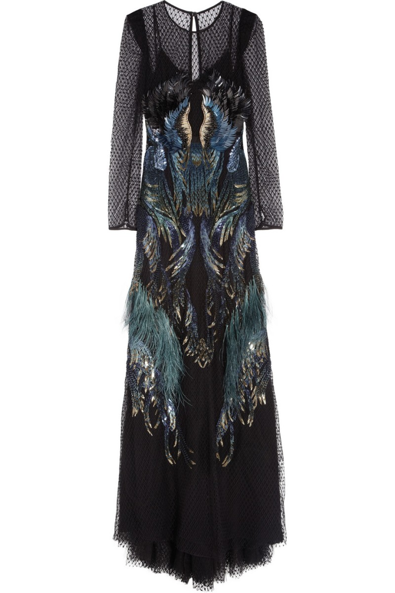 GUCCI Sequin and feather-embellished tulle gown €15,000