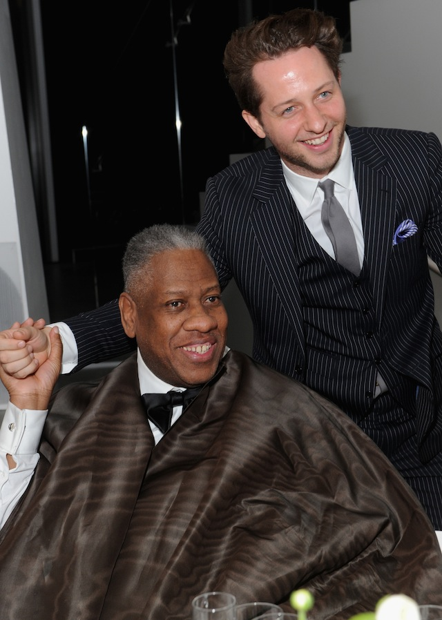Andre Leon Talley and Derek Blasberg