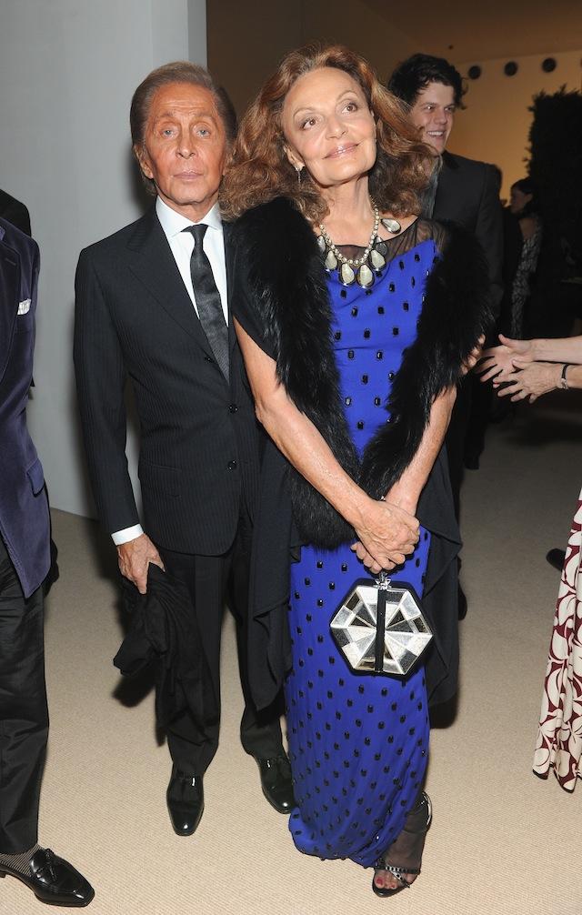 Valentino Garavani and Diane von Furstenberg attend CFDA and Vogue 2013 Fashion Fund Finalists Celebration at Spring