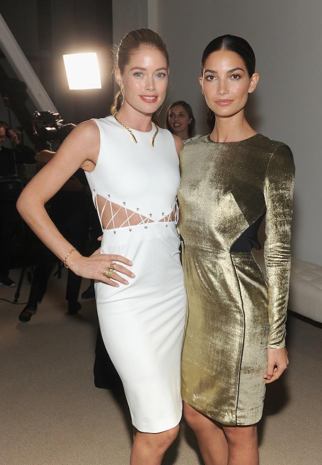 Doutzen Kroes and Lily Aldridge attend CFDA and Vogue 2013 Fashion Fund Finalists Celebration
