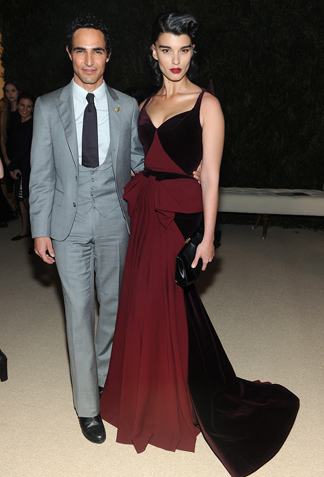 Zac Posen and Crystal Renn attend CFDA and Vogue 2013 Fashion Fund Finalists Celebration