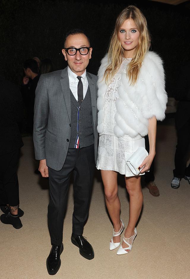 Model Constance Jablonski and Gilles Mendel attend CFDA and Vogue 2013 Fashion Fund Finalists Celebration