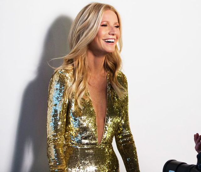 Gwyneth Paltrow backstage filming campaign Max Factor Modern Icon