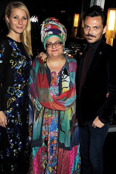 Gwyneth Paltrow, Camila Batmanghelidjh and Matthew Williamson