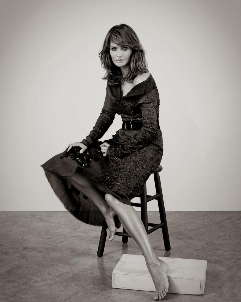 Helena Christensen by Eric Guillemain for ELLE Ukraine December 2013
