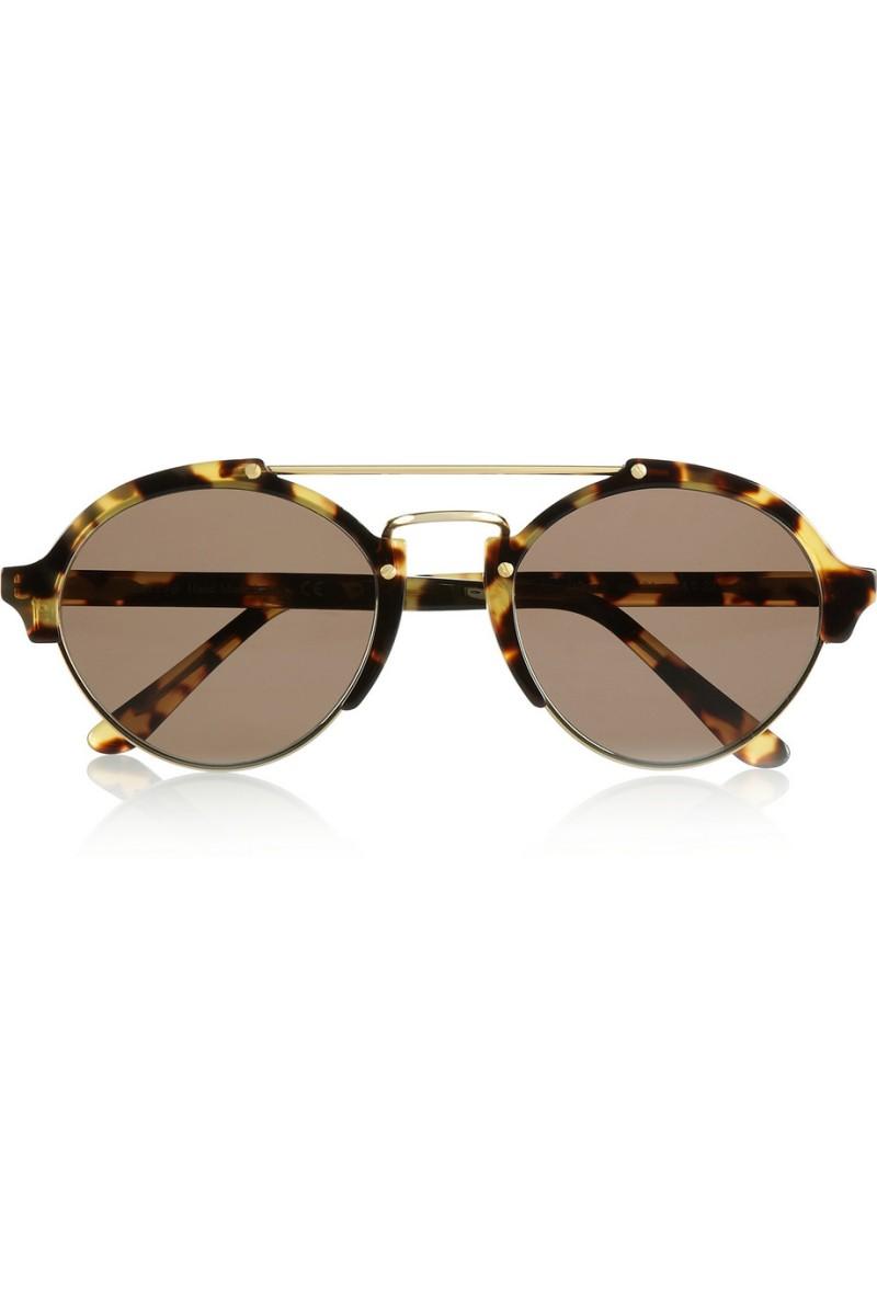 ILLESTEVA Milan II round-frame acetate and metal sunglasses €300
