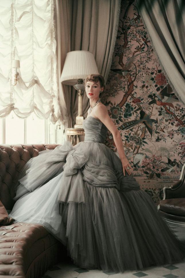 Inside Dior Glamour- Sophie Malgat wearing an evening dress