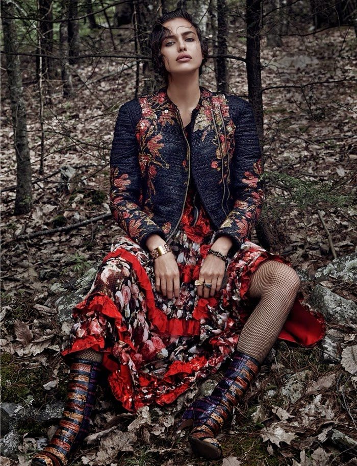 Irina Shayk by Giampaolo Sgura for Vogue Spain December 2013