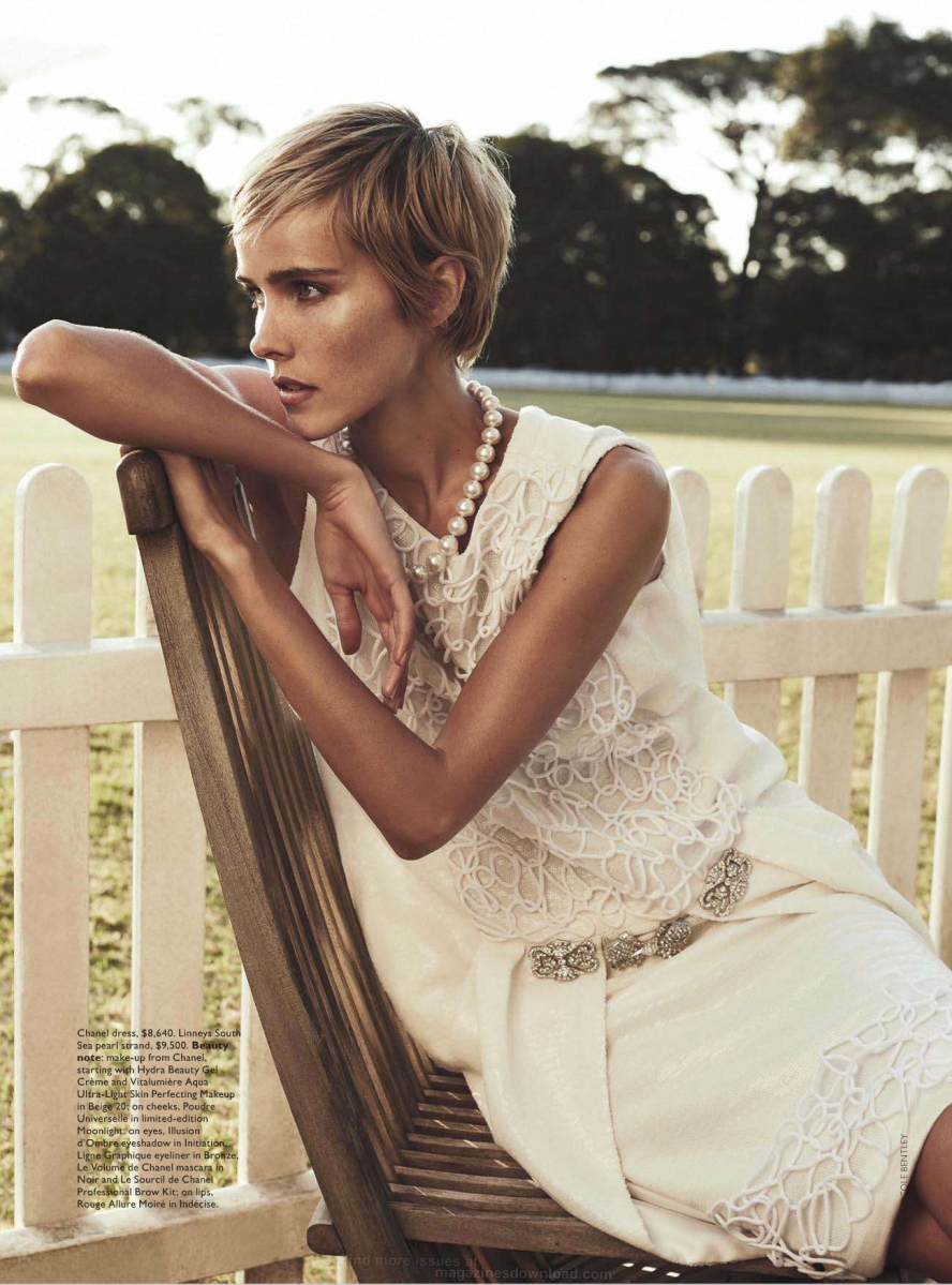 Isabel Lucas by Nicole Bentley for Vogue Australia December 2013