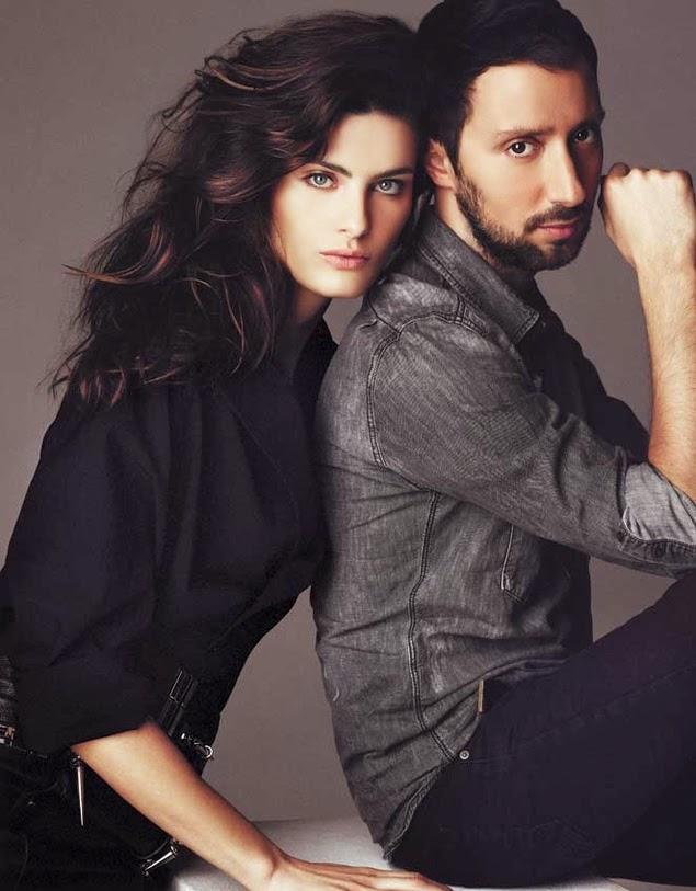 sabelli Fontana & Anthony Vaccarello by Gonzalo Machado for S Moda November 2013