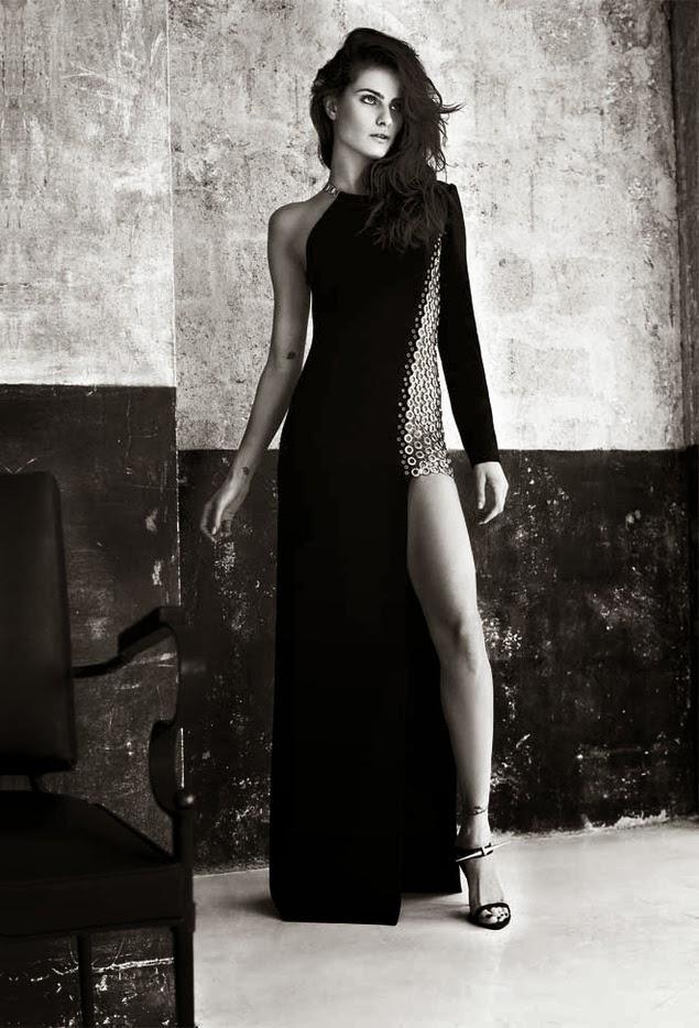 Isabelli Fontana & Anthony Vaccarello by Gonzalo Machado for S Moda November 2013
