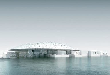 jean nouvel: louvre abu dhabi under construction