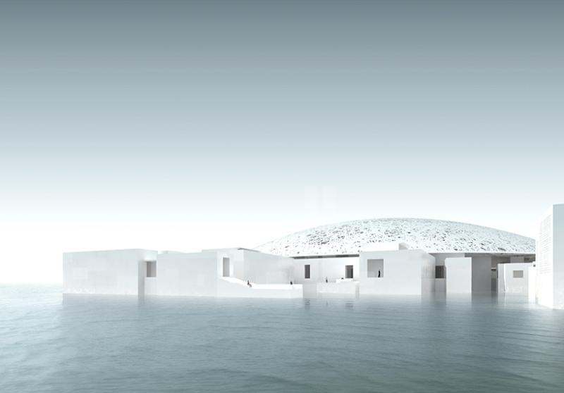 jean nouvel: louvre abu dhabi under construction