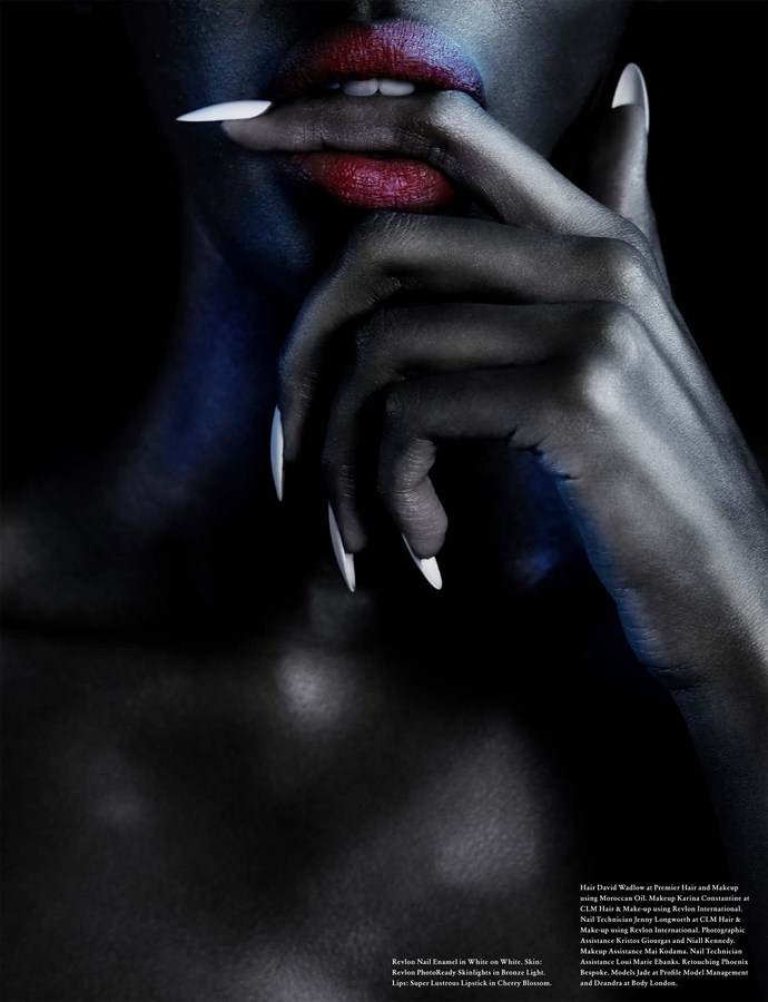 Jenny Longworth for Revlon envision surrealistic nails for Wonderland Magazine