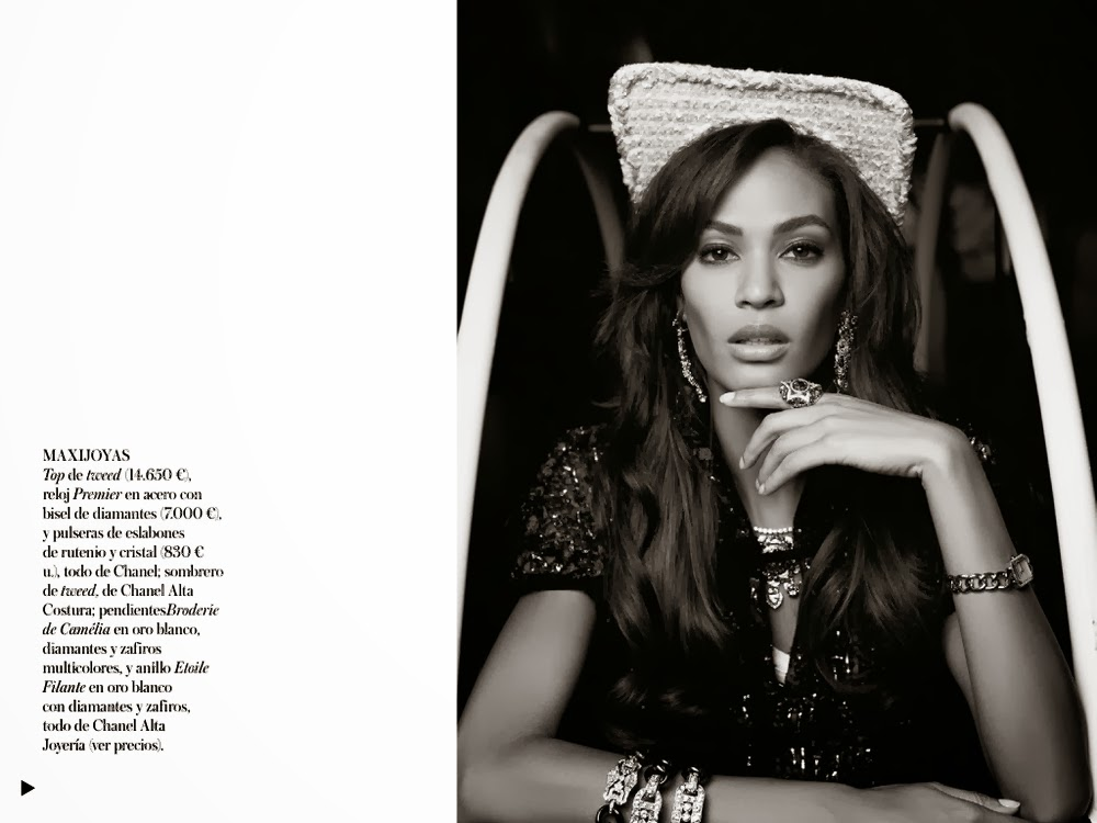 Joan Smalls by Karl Lagerfeld for Vogue Spain December 2013