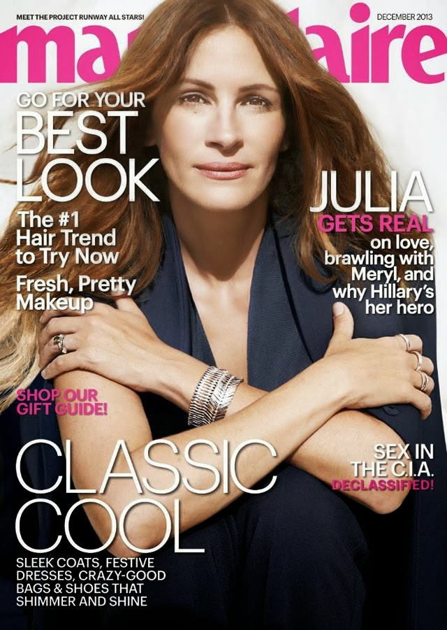 Julia Roberts for Marie Claire US December 2013
