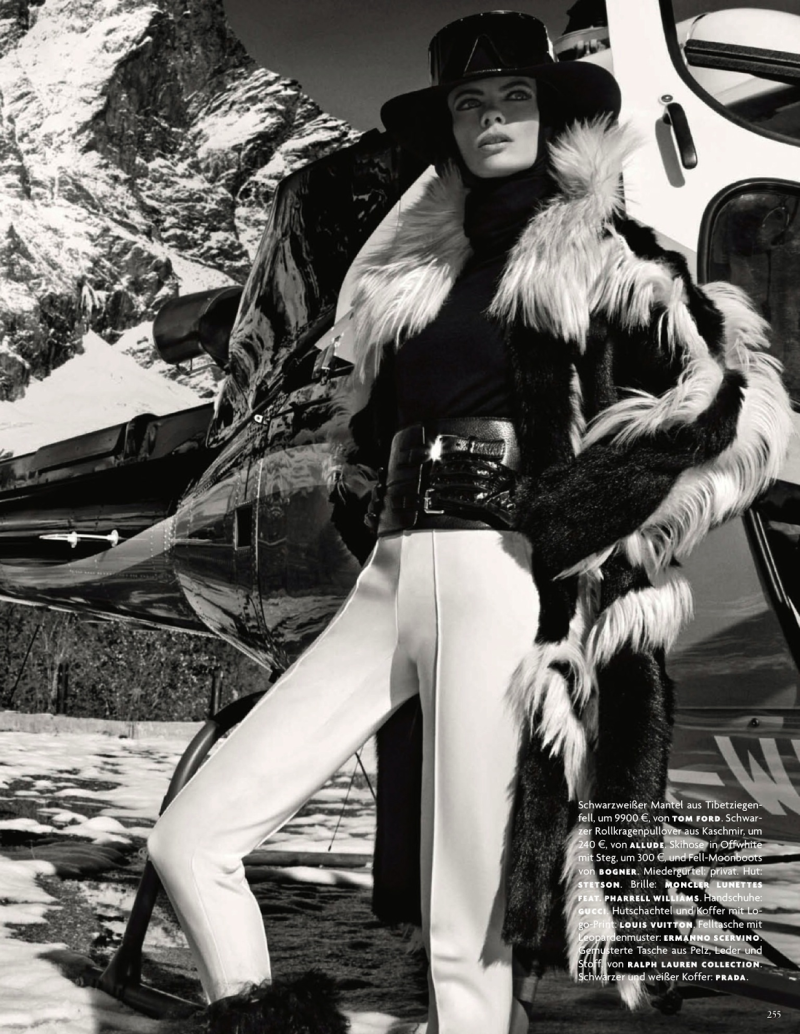 Julia Stegner By Giampaolo Sgura For Vogue Germany December 2013
